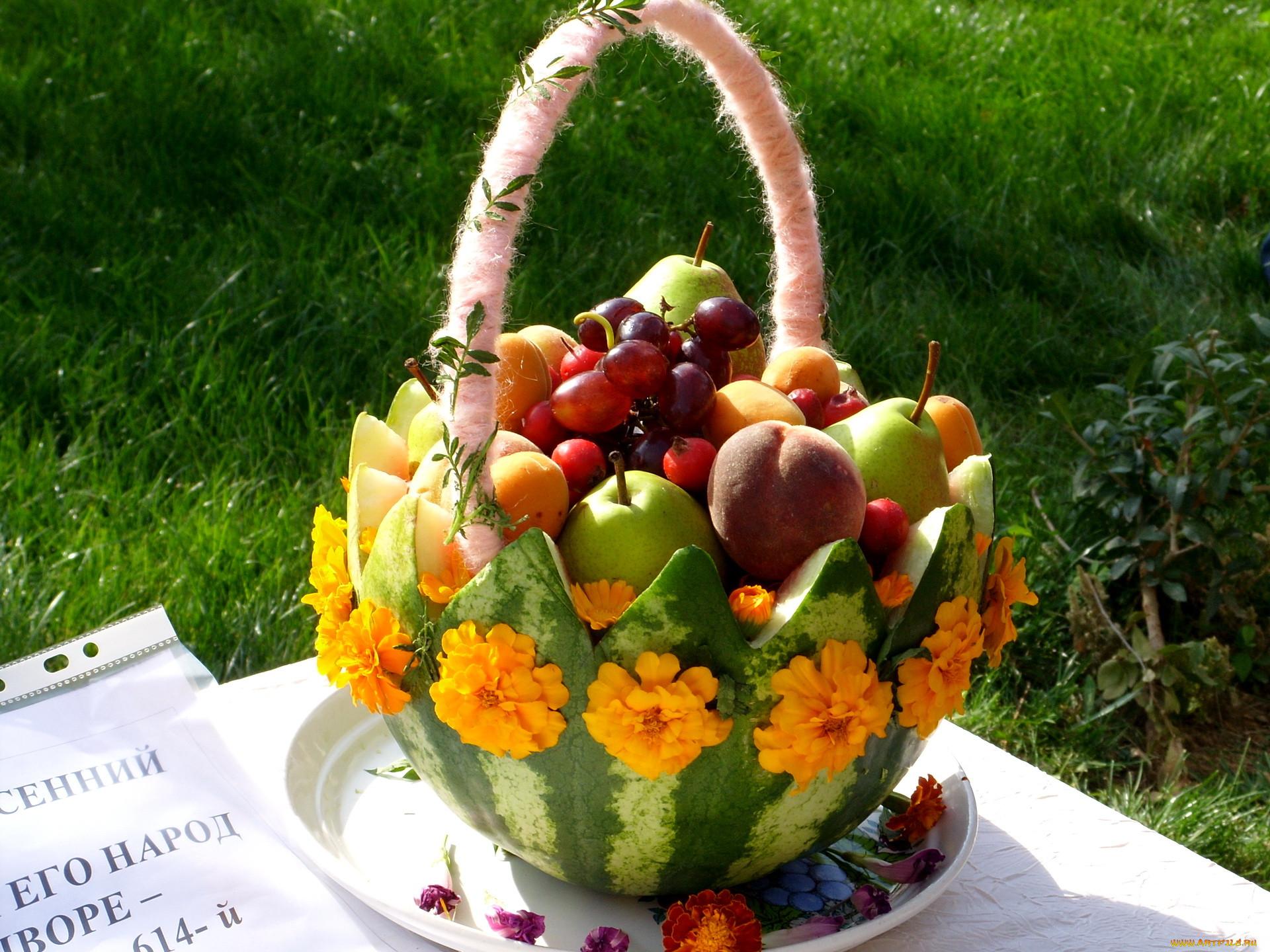 Композиция из фруктов своими руками фото